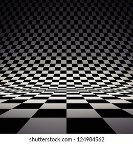 Black and white checker. 3d rendered image