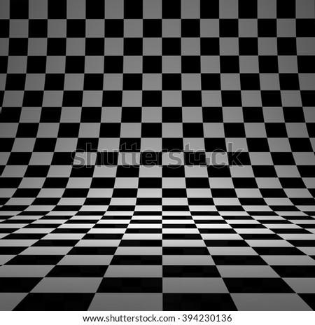Royalty Free Stock Illustration Of Black White Checker 3 D Studio
