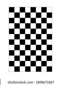 black and white checkered pattern grid paper. digital illustration isolated on white background. you can easily print it in 8.5x11 inch page
