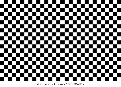 Black and white chess pattern illustration