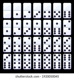 Black and white classic dominoes. Collection of simple domino chips. Similar JPG copy
