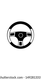 black and white color steering wheel image