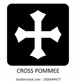 The black and white Cross Pommee icon illustration