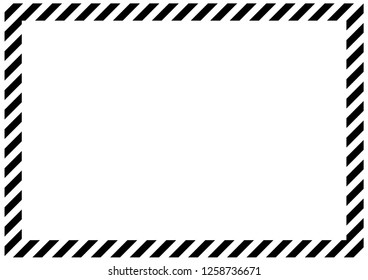 Black and white diagonal bands along the perimeter of the sheet. Empty form for message, envelope or banner.