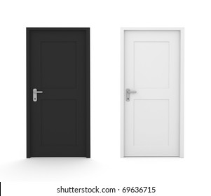 black and white doors, concept image