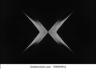 A black and white dotted abstract illustrated design.