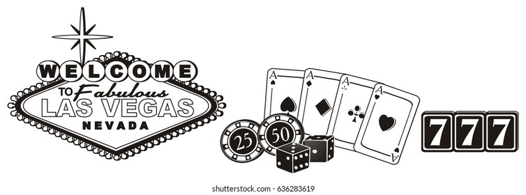 Royalty Free Stock Illustration Of Colored Banner Las Vegas Four