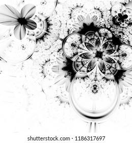 black white floral printable scrapbook paper stock illustration