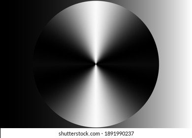 Black and white gradient background with disk for design.