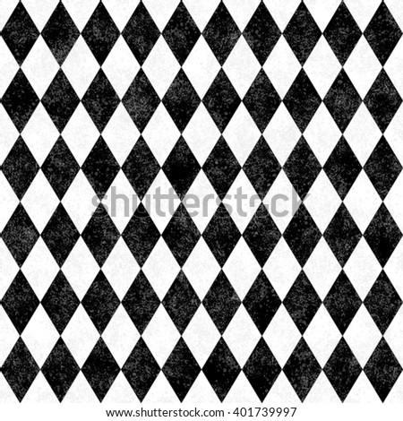 Black White Grunge Diamond Tile Pattern Stock Illustration 60 Cool Diamond Tile Pattern