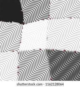Black and white grunge stripe line background. Abstract halftone illustration background.Spotted grunge grid background pattern
