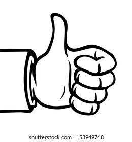 Black White Hand Showing Thumbs Up Stock Vector Royalty Free