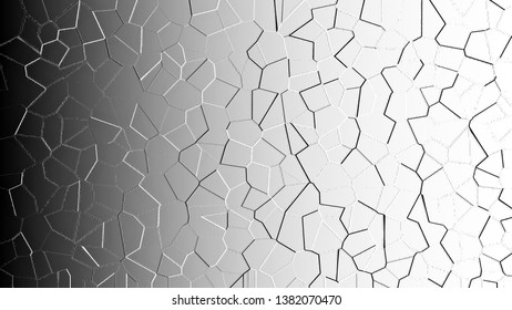 Black and white horizontal abstract relief convex pattern for textile and design