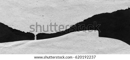 black and white illustration with abstract landscape contrast achromatic craft paper applique with lines