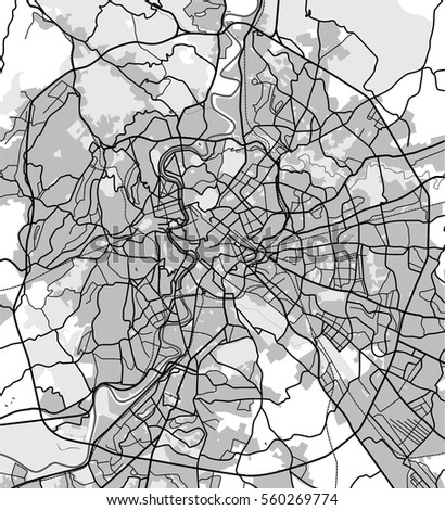 Black White Map Rome Italy City Stock Illustration 560269774 ...
