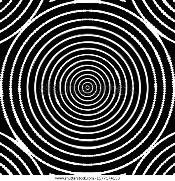 Black White Optical Art Optical Illusion Stock Illustration 1177174153