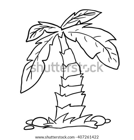 Black And White Cartoon Palm Tree Free Download Oasis Dl Co