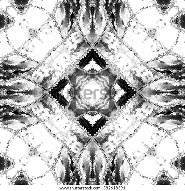 Black and white pattern for textile, backgrounds, tiles and designs