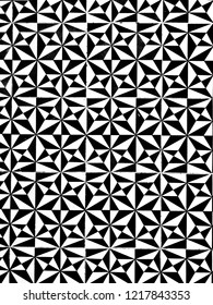 black and white pattern traingles