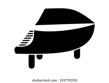 black and white piano drawing