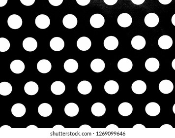 Black and white polka dot seamless pattern background.Big black and white polka dot background.