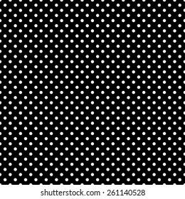 Black & White polka dots pattern, seamless background