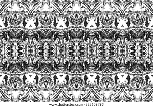 Black and white rectangle symmetrical horizontal pattern for textile, ceramic tiles and backgrounds