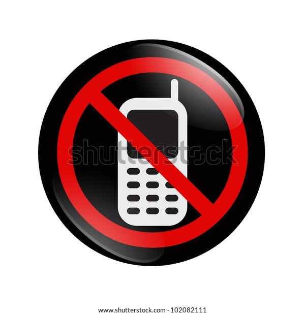 No Texting-Cell Phone Hand and Symbol