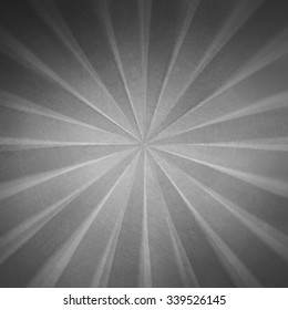 black and white retro background, cool distressed sunburst radial striped background with old vintage grunge texture and faded color, gray starburst background