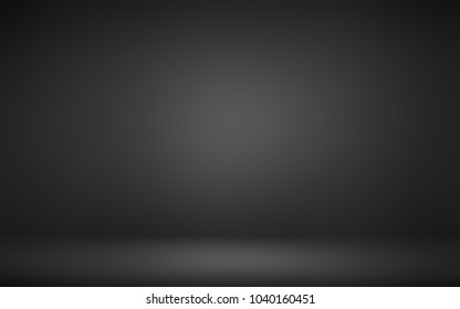 Black and white room 3D. Background