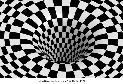 black and white scottish Hole 3D graphic on white background HD image