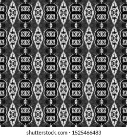 Black and white seamless embroidery pattern. Ikat ethnic ornament. Geometric in Aztec style. Figure tribal embroidery.Tribal ethnic texture. Arabian, Gypsy Scandinavian,Gypsy,Mexican,folk pattern.