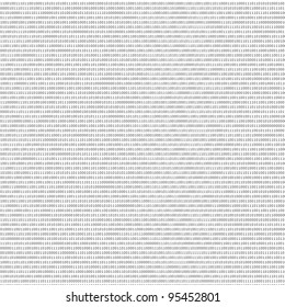 black and white sheet of binary codes as abstract texture to design new backgrounds