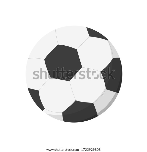 Black and white soccer ball. Sports equipment, match, game. Can be used for topics like championship, football, training