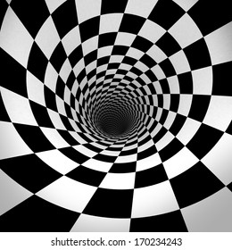 Black And White Spiral. 3d