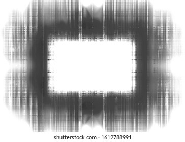 Black and white streaks border frame with white copy space