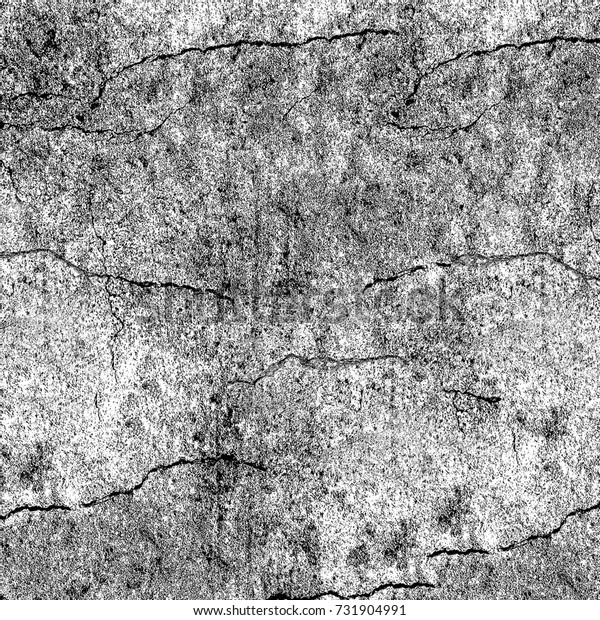 Black and white texture of grunge. Monochrome abstract pattern of spots and cracks. The background is grim from chips, abrasions, spray