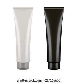 black white tubes