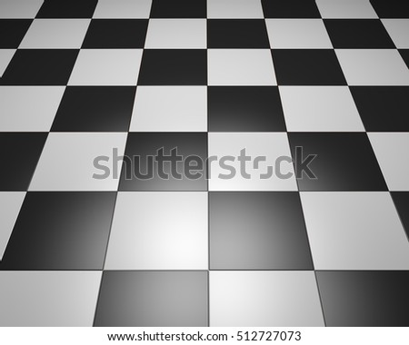 Black And White Vintage Floor Tiles Background Checkered Texture As Modern Interior Design Combination