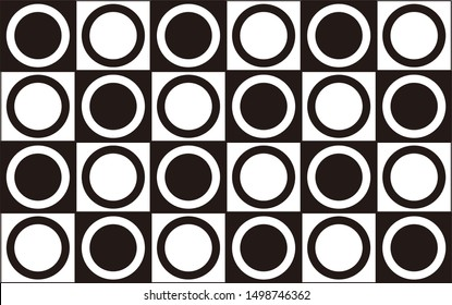 black and white wallpaper in the shape of a circle and a nice box also for the background