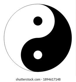 Black and white yin and yang symbol