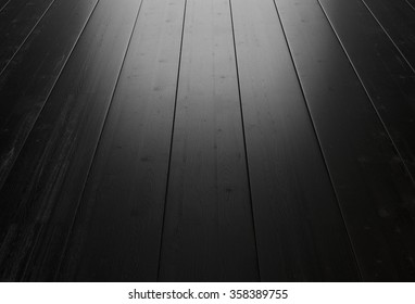 Black wood background with lighting from the window. 3d rendering.