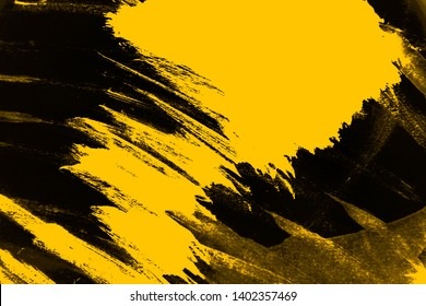 black yellow dark paint background texture with grunge brush strokes