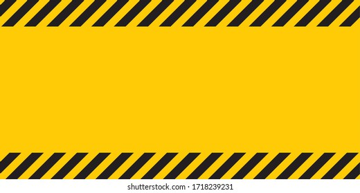 Black yellow striped banner wall Hazard industrial striped road warning Yellow black diagonal stripes Seamless pattern