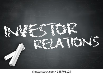 Blackboard with Investor Relations wording
