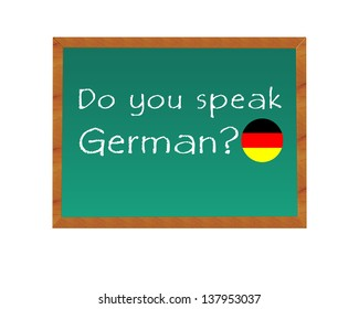 Blackboard with text Do you speak German