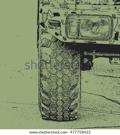 Blackgreen illustration of the
