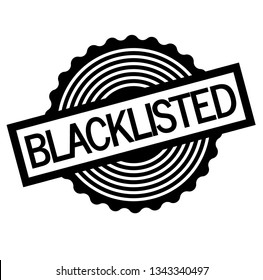 Blacklisted stamp on white