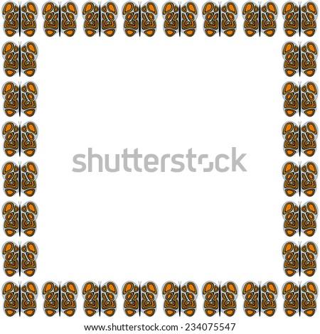 Black Red White Butterfly Pattern Frame Stock Illustration - Royalty ...
