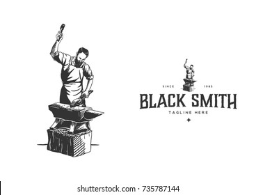 Blacksmith logo template